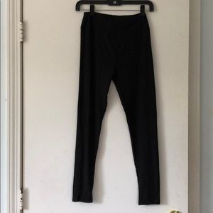 LuLaRoe OS One Size solid black leggings